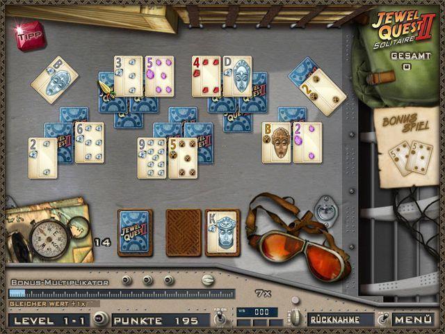 jewel quest solitaire 2 kartenspiele